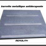 3 barrettes métalliques antidérapantes pour vos marches exterieure
