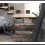 support métalliques en place quart tournant sur palier, taille au choix