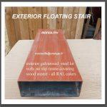 caisson acier galvanisé résiné aspect bois teinte au choix