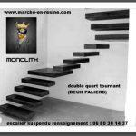 escalier suspendu quart tournant escalier suspendu marches suspendues marche caisson, escalier béton
