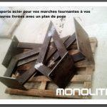 supports acier pour caissons tournants à vos mesures